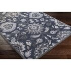 Keefer Hand-Tufted Navy/Charcoal Area Rug Rug Size: Round 4'