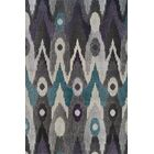 Ruben Black/Grey Ikat Graphite Area Rug Rug Size: Rectangle 9'6