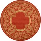 Catori Red & Natural Outdoor/Indoor Area Rug Rug Size: Rectangle 6'7