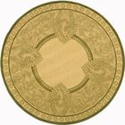 Catori Natural / Olive Outdoor Area Rug Rug Size: Round 6'7