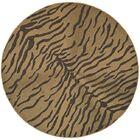 Catori Dark Brown/Natural Outdoor Rug Rug Size: Round 6'7