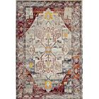 Clavier Red Area Rug Rug Size: Round 7'