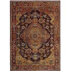 Elba Ruby/Gold Area Rug Rug Size: Rectangle 9' x 12'
