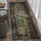 Alona Black/Olive Area Rug Rug Size: Rectangle 4' x 6'