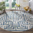 Vadim Ivory/Light Blue Area Rug Rug Size: Rectangle 9' x 12'