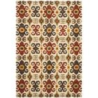 Lyon Ivory / Red Contemporary Rug Rug Size: Rectangle 3'6