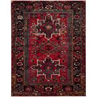 Barrera Red/Black Area Rug Rug Size: Rectangle 8' x 10'