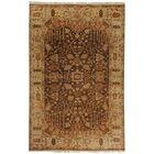 Adrien Brown Wool Area Rug Rug Size: Rectangle 3'9