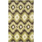 Greenhill Dark Brown/Green Rug Rug Size: Rectangle 8' x 10'
