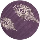 Dorthy Purple & Ivory Area Rug Rug Size: Round 8'