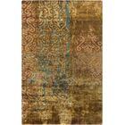 Beqal Gold Damasks Area Rug Rug Size: Rectangle 2' x 3'