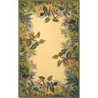 Bridges Green/Ivory Novelty Area Rug Rug Size: Rectangle 2'9