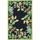 Bridges Black/Green Novelty Area Rug Rug Size: Rectangle 2'9