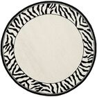 Bridges White/Black Area Rug Rug Size: Round 5'6