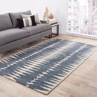 Abydos Gray/Ivory Striped Area Rug Rug Size: Rectangle 5' x 8'