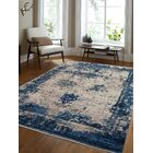 Annice Beige/Blue Area Rug Rug Size: Rectangle 5' x 8'