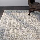 Quenby Traditional Ivory/Blue Area Rug Rug Size: Rectangle 7'10
