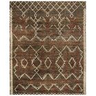 Parisi Hand-Knotted Dark Brown Area Rug Rug Size: Rectangle 8' x 10'