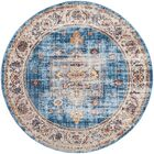 Ruwa Blue/Ivory Area Rug Rug Size: Rectangle 4' x 6'
