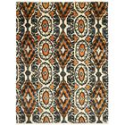 Almonburry Hand-Knotted Ivory/Rust Area Rug Rug Size: Rectangle 8' x 10'