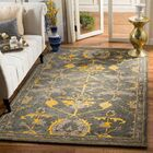 Netea Hand-Tufted Blue Grey/Gold Area Rug Rug Size: Rectangle 5' x 8'