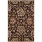 Topaz Hand-Tufted Wool Dark Brown Area Rug Rug Size: Rectangle 5' x 8'