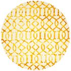 Sinclair Ivory/Gold Area Rug Rug Size: Round 7'