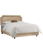 Alejandro Upholstered Panel Bed Color: Premier Oatmeal, Size: King
