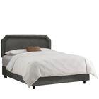 Alejandro Upholstered Panel Bed Color: Premier Charcoal, Size: King
