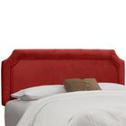 Amber Upholstered Panel Headboard Upholstery: Premier Red, Size: Full