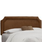 Amber Upholstered Panel Headboard Size: King, Upholstery: Premier Chocolate