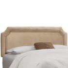 Amber Upholstered Panel Headboard Size: Twin, Upholstery: Premier Oatmeal
