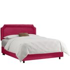 Watkinsville Upholstered Panel Bed Color: Regal Sangria, Size: Full