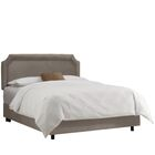 Watkinsville Upholstered Panel Bed Color: Regal Smoke, Size: California King