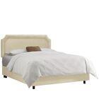 Watkinsville Upholstered Panel Bed Size: King, Color: Regal Antique White