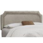 Fairview Upholstered Panel Headboard Upholstery: Velvet Light Grey, Size: California King