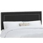 Euramo Upholstered Panel Headboard Size: Queen, Upholstery: Classico Black