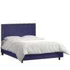Alsafi Upholstered Panel Bed Color: Regal Patriot Blue, Size: Twin