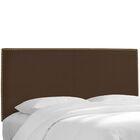 Pine Island Twill Upholstered Panel Headboard Upholstery: Twill Chocolate, Size: Twin