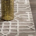 Judy Hand-Tufted Taupe/Tan Area Rug Rug Size: Runner 2'6