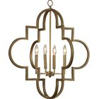 Reidar 4-Light Geometric Chandelier Size: 28.25