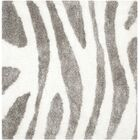 Hempstead Hand Tufted White/Gray Area Rug Rug Size: Square 5'