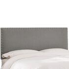 Upholstered Panel Headboard Size: Full, Upholstery: Grey