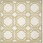 Maritza Ivory/Green Indoor/Outdoor Area Rug Rug Size: Square 7'
