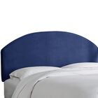 Chanler Velvet Upholstered Panel Headboard Size: King, Upholstery Color: Navy