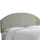 Chanler Velvet Upholstered Panel Headboard Size: Twin, Upholstery Color: Light Gray