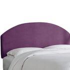 Chanler Velvet Upholstered Panel Headboard Size: King, Upholstery Color: Aubergine