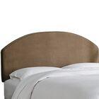 Chanler Velvet Upholstered Panel Headboard Size: Twin, Upholstery Color: Cocoa