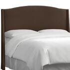 Adamczyk Wingback Headboard Size: King, Upholstery Color: Chocolate