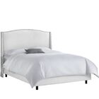 Adamczyk Upholstered Panel Bed Size: Queen, Headboard Color: White